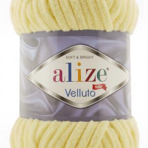 Fir de tricotat sau crosetat - Fire tip mohair din acril ALIZE VELLUTO GALBEN 13