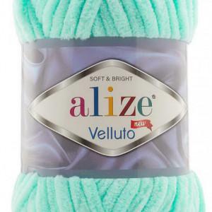 Fir de tricotat sau crosetat - Fire tip mohair din acril ALIZE VELLUTO VERNIL 19