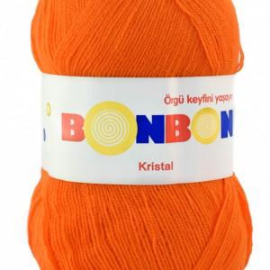 Fir de tricotat sau crosetat - Fire tip mohair din acril BONBON KRISTAL portocaliu 98215