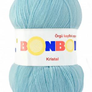 Fir de tricotat sau crosetat - Fire tip mohair din acril BONBON KRISTAL BLEU 98694