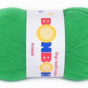 Fir de tricotat sau crosetat - Fire tip mohair din acril BONBON KRISTAL VERDE 98337