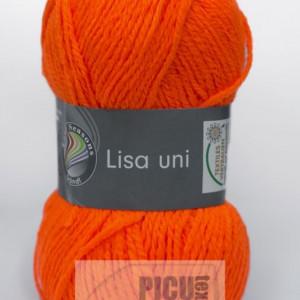 Fir de tricotat sau crosetat - Fire tip mohair din acril GRUNDL LISA UNI PORTOCALIU (FLUO) 50