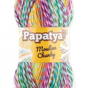 Fir de tricotat sau crosetat - Fire tip mohair din acril Kamgarn Papatya Mouline Chunky Degrade 5351