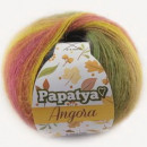 Fir de tricotat sau crosetat - Fire tip mohair din acril Kamgarn Papatya Angora degrade 43