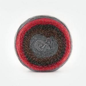 Fir de tricotat sau crosetat - Fire tip mohair din acril Kamgarn Papatya CAKE SILVER degrade 313