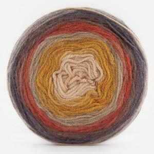 Fir de tricotat sau crosetat - Fire tip mohair din acril Kamgarn Papatya CAKE degrade 214