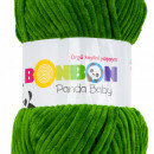 Fir de tricotat sau crosetat - Fire tip mohair din acril NAKO BONBON PANDA BABY VERDE 3122