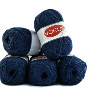 Fir de tricotat sau crosetat - Fire tip mohair din acril Nako Export - #7216 - ALBASTRU