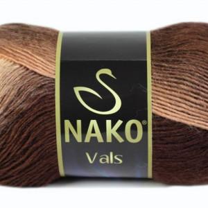 Fir de tricotat sau crosetat - Fire tip mohair din acril premium Nako VALS DEGRADE 85807