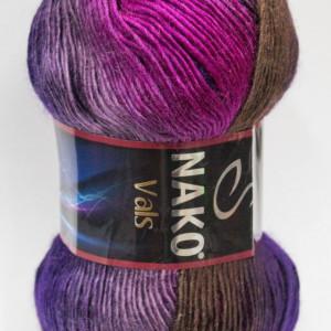 Fir de tricotat sau crosetat - Fire tip mohair din acril premium Nako VALS DEGRADE 86463