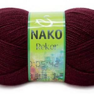 Fir de tricotat sau crosetat - Fire tip mohair din acril premium Nako REKOR GRENA 999