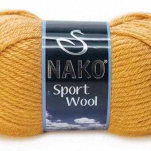 Fir de tricotat sau crosetat - Fire tip mohair din acril si lana Nako Sport Wool BEJ 10129