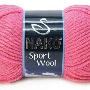 Fir de tricotat sau crosetat - Fire tip mohair din acril si lana Nako Sport Wool roz 1174