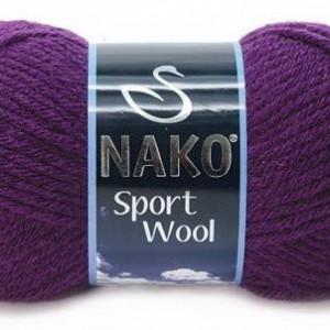 Fir de tricotat sau crosetat - Fire tip mohair din acril si lana Nako Sport Wool MOV 3260