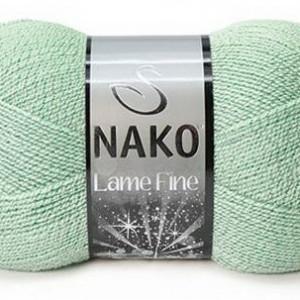Fir de tricotat sau crosetat - Fire tip mohair din acril si poliester metalic NAKO LAME FINE VERNIL 11475SE