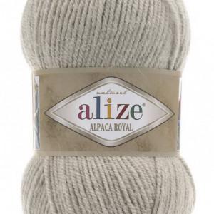 Fir de tricotat sau crosetat - Fire tip mohair din alpaca 30%, lana 15%, acril 55% Alize Alpaca Royal BEJ 512