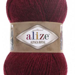 Fir de tricotat sau crosetat - Fire tip mohair din alpaca 30%, lana 15%, acril 55% Alize Alpaca Royal GRENA 57