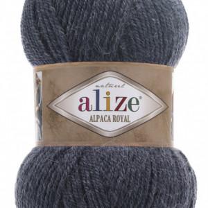 Fir de tricotat sau crosetat - Fire tip mohair din alpaca 30%, lana 15%, acril 55% Alize Alpaca Royal DENIM 203
