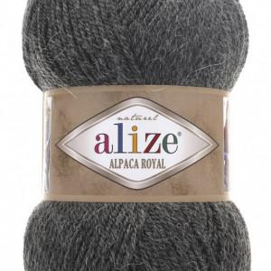 Fir de tricotat sau crosetat - Fire tip mohair din alpaca 30%, lana 15%, acril 55% Alize Alpaca Royal GRI 182