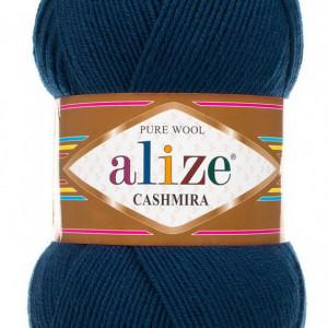 Fir de tricotat sau crosetat - Fire tip mohair din lana 100%, Alize CASHMIRA ALBASTRU 215