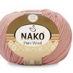 Fir de tricotat sau crosetat - Fire tip mohair din lana 100% Nako PURE WOOL ROZ 11632
