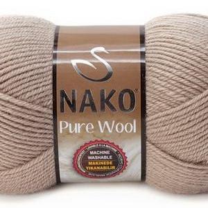 Fir de tricotat sau crosetat - Fire tip mohair din lana 100% Nako PURE WOOL BEJ 257