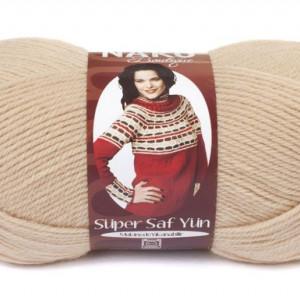 Fir de tricotat sau crosetat - Fire tip mohair din lana 100% Nako Super SAF YUN BEJ 219
