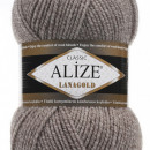 Fir de tricotat sau crosetat - Fire tip mohair din lana 49% si acril 51% Alize Lanagold Bej 650