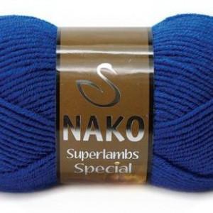 Fir de tricotat sau crosetat - Fire tip mohair din lana 50% si acril 50% Nako Superlambs Special albastru 1599
