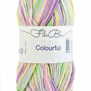 Fir de tricotat sau crosetat - Fire tip mohair din poliester Filo Blu - Colourful - 06 DEGRADE