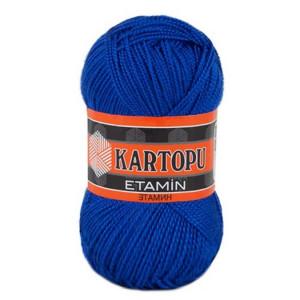 Fir de tricotat,brodat sau crosetat - Fir KARTOPU ETAMIN ALBASTRU 624