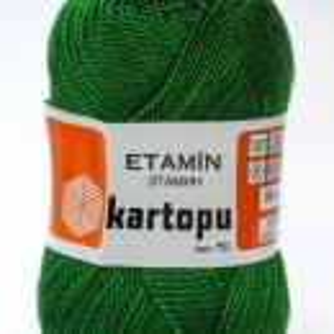 Fir de tricotat,brodat sau crosetat - Fir KARTOPU ETAMIN VERDE -417