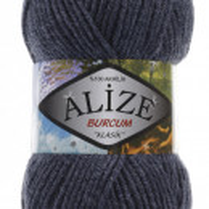 Fir de tricotat sau crosetat - Fir ACRILIC ALIZE BURCUM KLASIK DENIM MELANJ 203