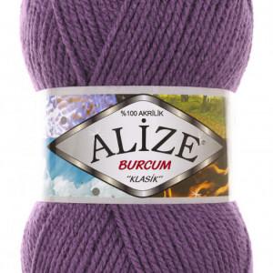 Fir de tricotat sau crosetat - Fir ACRILIC ALIZE BURCUM KLASIK MOV 206