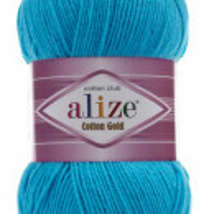Fir de tricotat sau crosetat - Fir ALIZE COTTON GOLD ALBASTRU 16