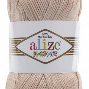 Fir de tricotat sau crosetat - Fir BUMBAC 100% ALIZE BAHAR BEJ 160