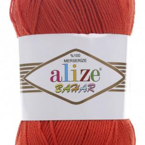 Fir de tricotat sau crosetat - Fir BUMBAC 100% ALIZE BAHAR ROSU 352