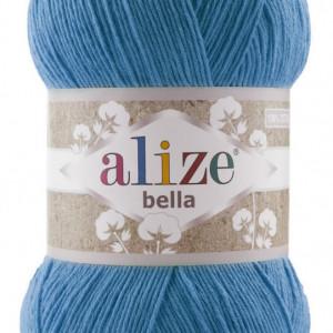 Fir de tricotat sau crosetat - Fir BUMBAC 100% ALIZE BELLA 100 - ALBASTRU 387