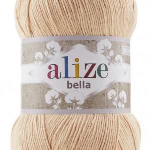 Fir de tricotat sau crosetat - Fir BUMBAC 100% ALIZE BELLA 100 - BEJ 417