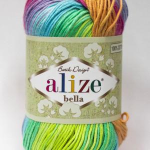 Fir de tricotat sau crosetat - Fir BUMBAC 100% ALIZE BELLA BATIK 4151