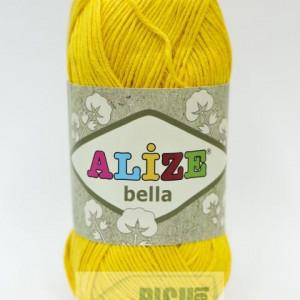 Fir de tricotat sau crosetat - Fir BUMBAC 100% ALIZE BELLA - Galben 488