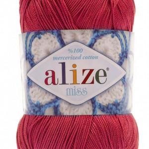 Fir de tricotat sau crosetat - Fir BUMBAC 100% ALIZE MISS ROZ 366