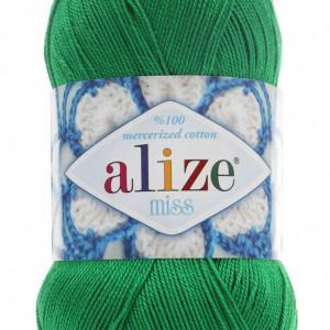Fir de tricotat sau crosetat - Fir BUMBAC 100% ALIZE MISS VERDE 123