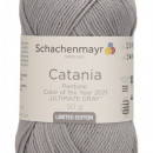 Fir de tricotat sau crosetat - Fir BUMBAC 100% MERCERIZAT CATANIA ULTIMATE GRAY 22021