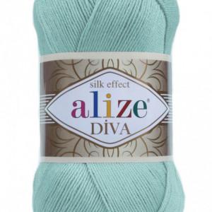 Fir de tricotat sau crosetat - Fir microfibra ALIZE DIVA ALBASTRU 463