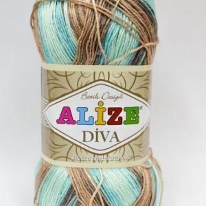Fir de tricotat sau crosetat - Fir microfibra ALIZE DIVA BATIK DEGRADE 4603