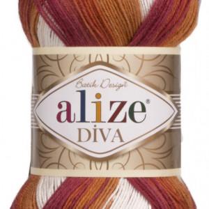 Fir de tricotat sau crosetat - Fir microfibra ALIZE DIVA BATIK DEGRADE 7107