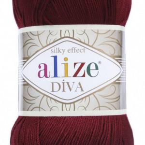 Fir de tricotat sau crosetat - Fir microfibra ALIZE DIVA GRENA 57
