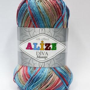 Fir de tricotat sau crosetat - Fir microfibra ALIZE DIVA MISSISIPI DEGRADE 4587