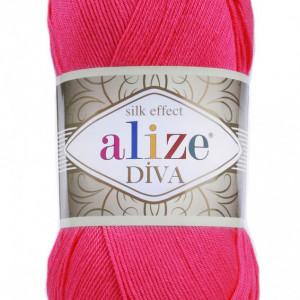 Fir de tricotat sau crosetat - Fir microfibra ALIZE DIVA ROZ 396